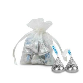 Extra Small Organza Bag - Pack of 12 White