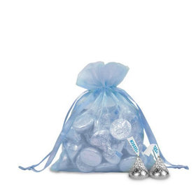 Small Organza Bag - Pack of 12 Blue
