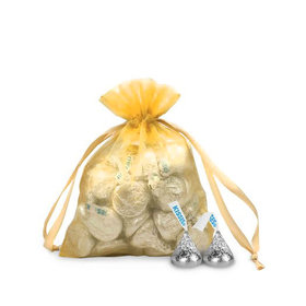 Small Organza Bag - Pack of 12 Gold