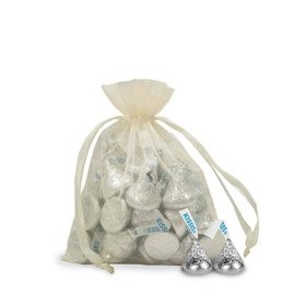 Small Organza Bag - Pack of 12 Ivory