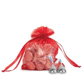 Small Red Organza Bag - Pack of 12