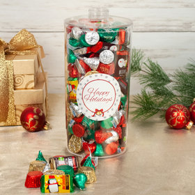 Happy Holidays Hershey's Holiday Canister