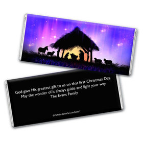 Personalized Chocolate Bar & Wrapper - Christmas Holy Night