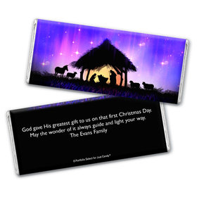 Personalized Chocolate Bar Wrappers Only - Christmas Holy Night