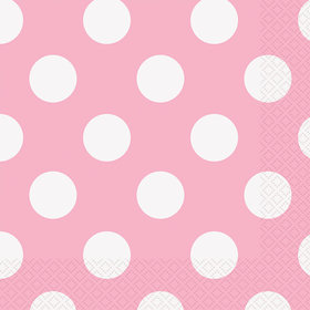 Light Pink Dots Lunch Napkins (16 Count)