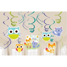 Woodland Welcome Hanging Swirl Decorations