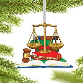 Personalized Lawyer Books with Scales and Gavel