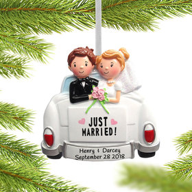 Personalized Just Married Couple in Car