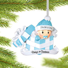 Personalized Baby Boy First Christmas Present