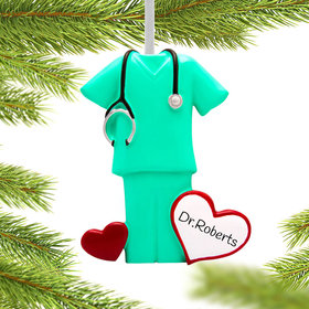 Personalized Green Scrubs