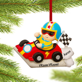 Personalized Child Race Car Driver