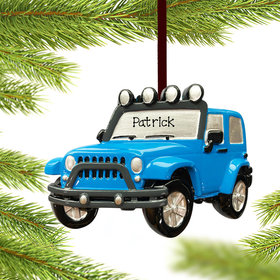 Personalized Blue Jeep