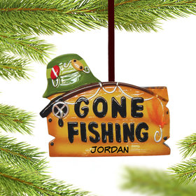 Personalized 'Gone Fishing'