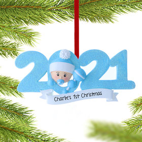 Personalized 2021 Baby's First