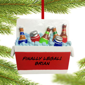 Personalized Cooler Full of Beer