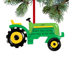 Personalized Green Tractor