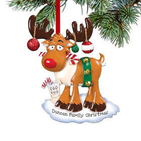 Personalized Christmas Moose