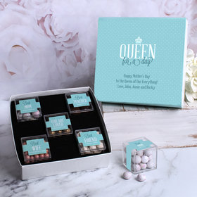 Mother's Day Gifts Queen Personalized Premium Gift Box with 5 JUST CANDY® favor cubes