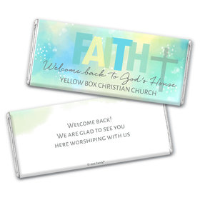 Personalized Religious Candy Faith Welcome Back Chocolate Bars