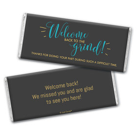 Personalized Quarantine Back to the Grind Chocolate Bar Wrappers