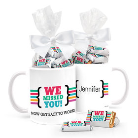 Personalized Quarantine We Missed You 11oz Mug with approx. 24 Wrapped Hershey's Miniatures