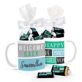 Personalized Quarantine Happy Blocks 11oz Mug with approx. 24 Wrapped Hershey's Miniatures