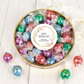Personalized Mother's Day Large Plastic Tin with Lindt Truffles (24pcs)