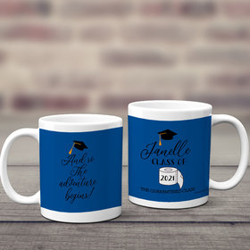 Personalized Quarantine Graduation Coffee Mugs 11oz - Adventure Begins