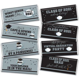 Graduation Candy Gift Box Hershey's Chocolate Bars (8 Pack) - Silver