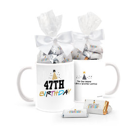 Friends Birthday Gifts Personalized 11oz Coffee Mug with approx. 24 Wrapped Hershey's Miniatures