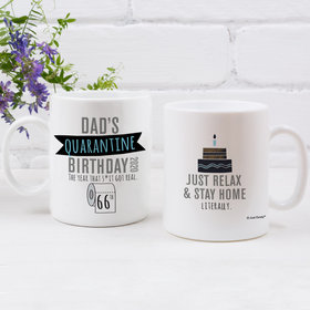 Personalized Coffee Mug Quarantine Birthday Gifts (11oz) - TP Dad