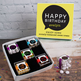 Birthday Care Package Personalized Premium Gift Box with 5 JUST CANDY® favor cubes