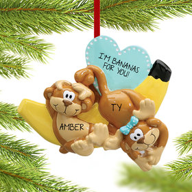 Personalized Silly Monkey Couple with Banana