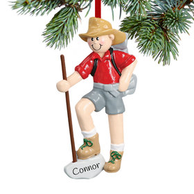 Personalized Male Hiker with Walking Stick