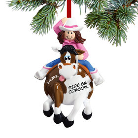 Personalized Cowgirl on a Horse