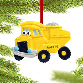 Personalized Dump Truck with Eyes