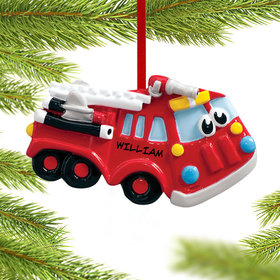 Personalized Fire Engine with Eyes