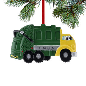 Personalized Garbage Truck with Eyes