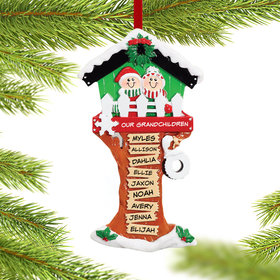 Personalized Christmas Tree House 9 Names