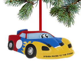 Personalized Race Car with Eyes