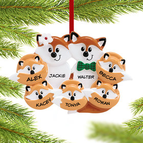 Personalized Fox Family of 7