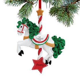 Personalized Carousel Horse