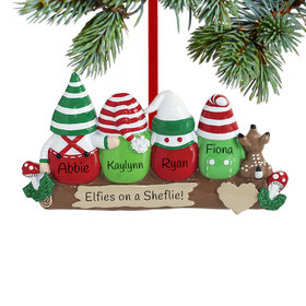 Personalized Idle Elves Family of 4
