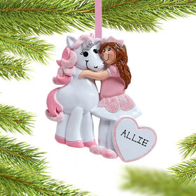 Personalized Girl with Unicorn
