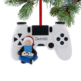 Personalized Gamer with Video Game Controller
