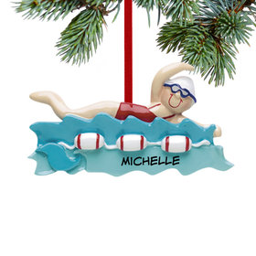 Personalized Swimmer Girl