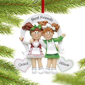 Personalized Friends or Sisters with Hearts