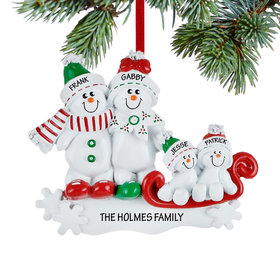 Personalized Snow Family Sled 4