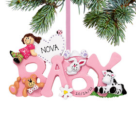 Personalized Baby Letters - Girl