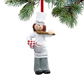 Personalized Female Chef with Tasting Spoon